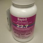 Baytril bottle